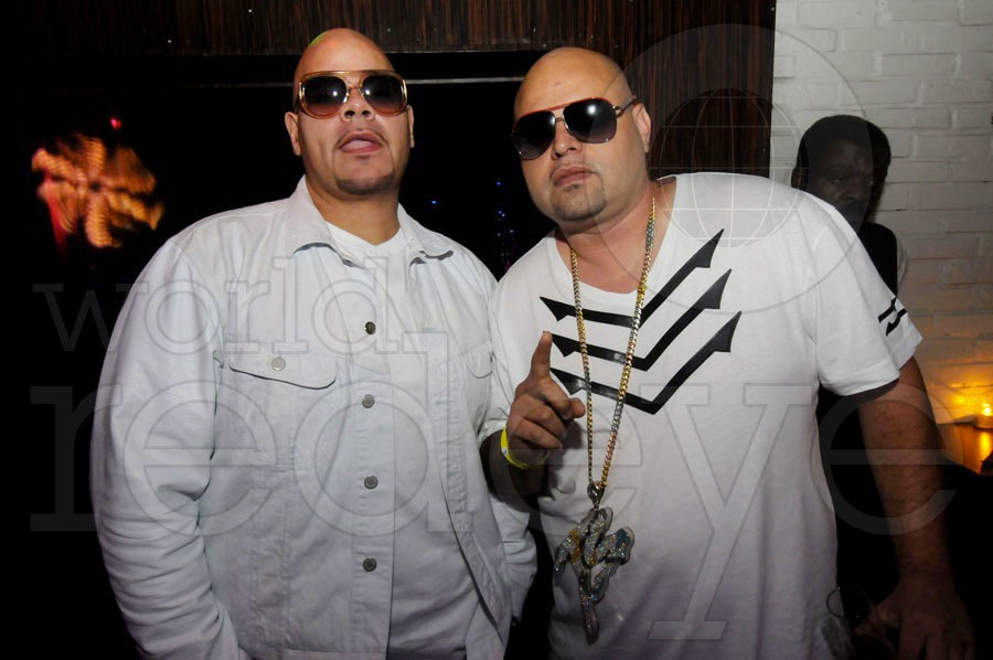 Mario, Fat Joe, & Charlie Villanueva at Mansion