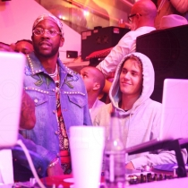 Lil Wayne, Justin Bieber, 2 Chainz, Jamie Foxx, Trey Songz, Odell Beckham Jr., & Fabolous at LIV on Sunday